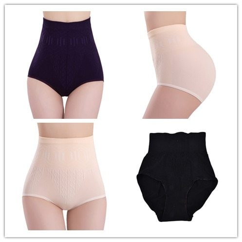 3 Colors High Waist Brief Girdle Body Shaper  Fashion Ladies Pure Cutton Slim Tummy Knickers Pants